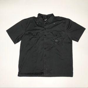 Harley Davidson embroidered button up shirt